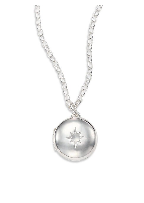 Image of EXCLUSIVELY AT SAKS FIFTH AVENUE. From the Astley Clarke Muse Collection. A petite locket necklace of sterling silver, with delicate moonstone cabochon in a center star setting, promises sentiment as well as style. EXCLUSIVELY AT SAKS FIFTH AVENUE. Moonst