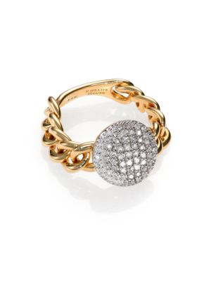 PHILLIPS HOUSE Affair Diamond & 14K Yellow Gold Infinity Mini-Chain Link Ring