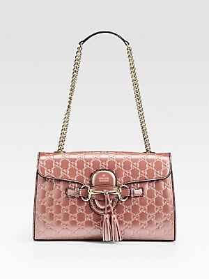 6296e9fd3e4 Gucci - Emily Shine Guccissima Leather Chain Shoulder Bag - saks.com