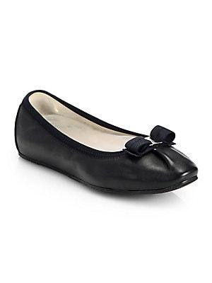 2c71007bf567 Salvatore Ferragamo - My Joy Leather Ballet Flats - saks.com