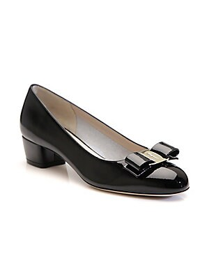 14d8b3a912aa Salvatore Ferragamo - Vara Patent Leather Pumps - saks.com