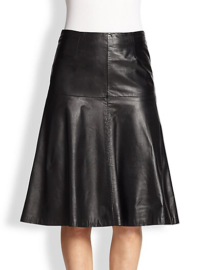 Celine Leather Bell Skirt