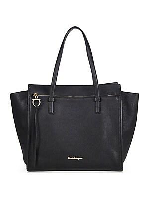 Salvatore Ferragamo - Emotion Leather Tote Bag - saks.com 37de5efef605c