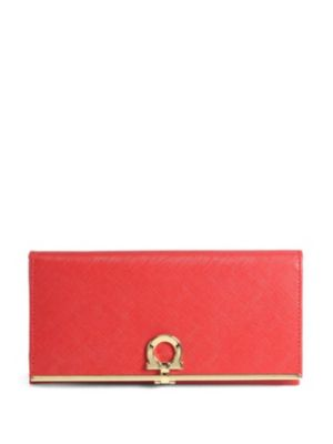 Gancini Icona Saffiano Leather Flap Continental Wallet