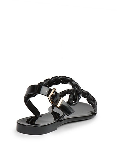 0121f6b36290 Shop Givenchy Nea Jelly Flat Sandals In Nude-Pink