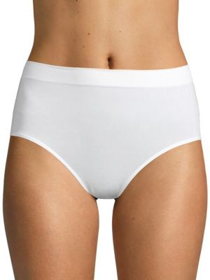 WACOAL Beyond Naked Clean-Cut Ribbed Brief 870359 in White