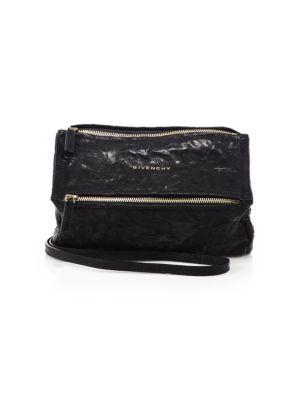 Givenchy 'Small Pepe Pandora' Leather Shoulder Bag - Black
