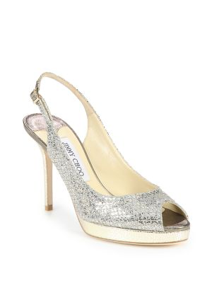 Nova Glitter Slingback Sandals by Jimmy Choo