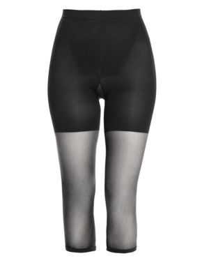 Women'S Super High Power Tummy Control Footless Capri, Also Available In Extended Sizes in Black