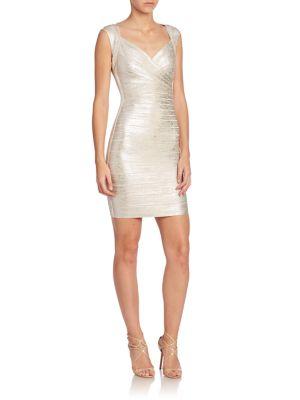 Metallic Bandage Dress