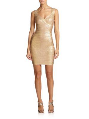 Buy Herve Leger Metallic Bandage Dress online with Australia wide shipping