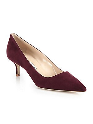 794e37e98458 Manolo Blahnik - BB 90 Suede Point Toe Pumps - saks.com