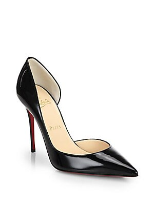 c3d976aa986 Christian Louboutin - Iriza 100 Patent Leather Half D'Orsay Pumps ...