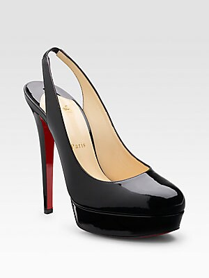 new arrival 8fc2f 1fefb Christian Louboutin - Bianca Patent Leather Slingbacks ...