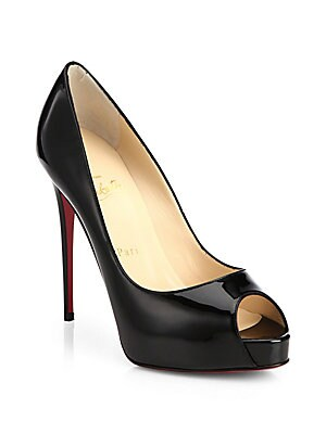 188dc1f9f62d Christian Louboutin - New Very Prive 120 Patent Leather Peep Toe Pumps