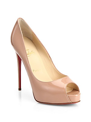fdb001ed45e7 Christian Louboutin - New Very Prive 120 Patent Leather Peep Toe Pumps