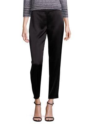Classic Emma Stretch Cropped Pants, Navy, Caviar