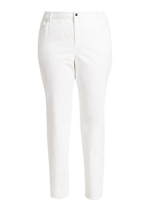 """Image of Designed to hug curves flawlessly, slim jeans with just the right amount of stretch. These jeans pair perfectly with an oversized top. Belt loops. Zip fly and button closure. Front and back pockets. Inseam, about 31"""".Cotton/polyamide/elastane. Machine was"""