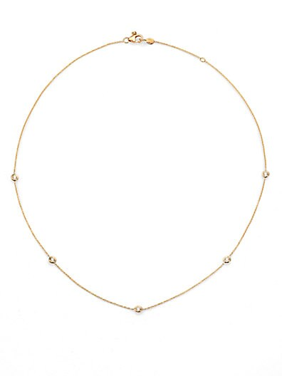 Roberto Coin Diamond & 18K Yellow Gold Station Necklace/18   Gold