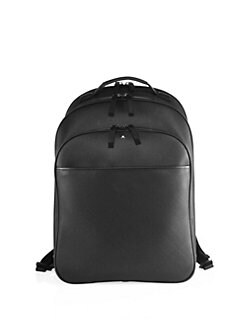 f58b9585f1 Montblanc. Solid Leather Backpack