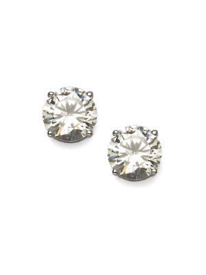 Brilliant Cut Sterling Silver Stud Earrings by Adriana Orsini