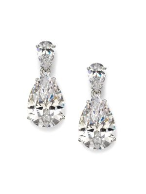 drop tolia pear crystal anuja product earrings