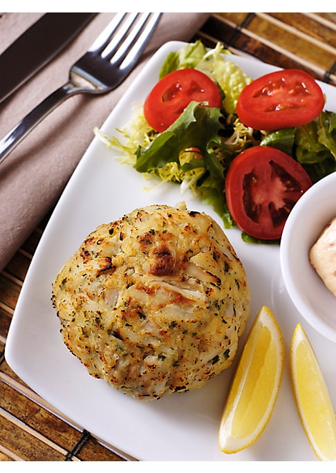 Image of A treat from the sea, these domestic blue crab cakes are filled with premium ingredients and subtle spices, from the original recipe developed at Baltimore's landmark restaurant.100% domestic blue crab. Voted Best Crab Cake more than 25 times. Includes 6