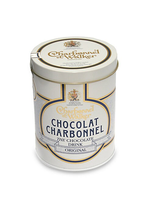 """Image of A luxurious original, made with the rich, lightly sweetened taste of real dark chocolate by the boutique's confectionery artisans in the UK.10.5 oz. Box: 4.75""""H x 4"""" diameter. Shelf life: 18 months. Made in UK."""