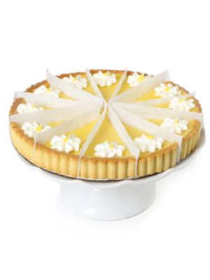 """Image of A tender butter cookie shell is filled with a creamy lemon curd that bursts with the flavor of fresh lemons. Not too sweet, not too tart; this very pretty dessert has the fresh taste and look of spring.12 servings. Shelf life: 3-5 days.10"""" diam.2 lb, 1 oz"""