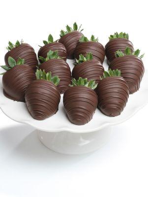 Dark Chocolate-Covered Strawberries