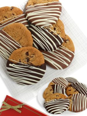 Chocolate-Dipped Cookie Assortment