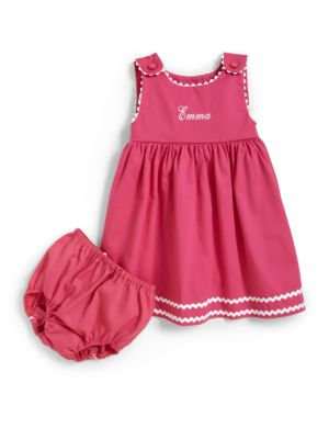 Infants Personalized Dress  Diaper Cover Set