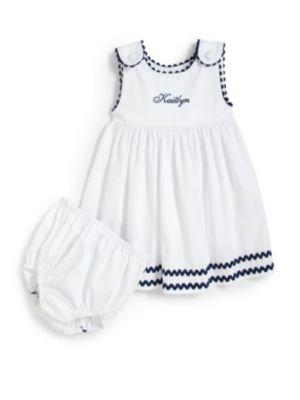 Infants TwoPiece Personalized Dress  Diaper Cover Set