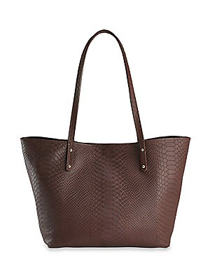 Gigi New York - Taylor Mini Snake-Embossed Leather Tote 056ea71bfb