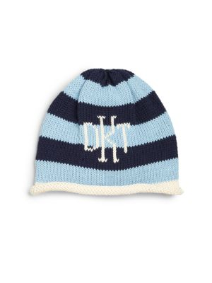 Personalized Infants Toddlers  Little Kids Striped Cotton Name Hat