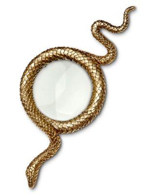 L'OBJET Snake Magnifying Glass in Gold