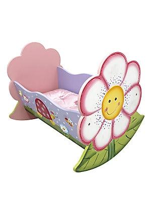 Teamson Magic Garden Rocking Doll Bed