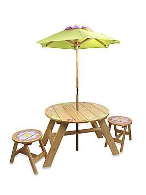 Teamson 3Piece Magic Garden Outdoor Table  Chairs Set