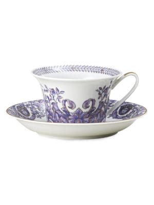 Image of Inspired by the distinguished style of the French Royal Court of Louis XIV, this porcelain collection features the kind of elegance that could only come from the House of Versace. From the Le Grand Divertissement Collection. Please note: tea cup sold sepa