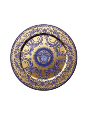 "Image of Inspired by the distinguished style of the French Royal Court of Louis XIV, this porcelain collection features the kind of elegance that could only come from the House of Versace. From the Le Grand Divertissement Collection. Porcelain.13"" diam. Hand wash."