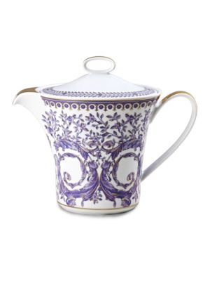 Image of From the Le Grand Divertissement Collection. Inspired by the distinguished style of the French Royal Court of Louis XIV, this porcelain collection features the kind of elegance that could only come from the House of Versace. Porcelain.43 oz. Hand wash. Ma