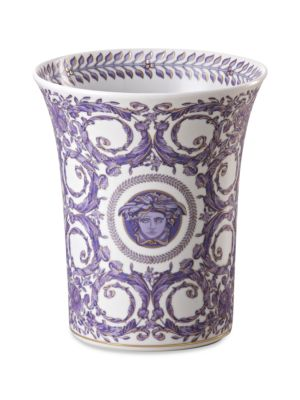 "Image of Inspired by the distinguished style of the French Royal Court of Louis XIV, this porcelain collection features the kind of elegance that could only come from the House of Versace. From the Le Grand Divertissement Collection. Porcelain. Height, about 7"".Ha"