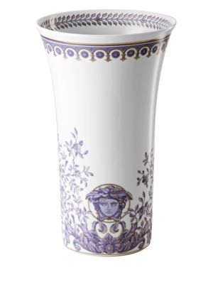 Image of Inspired by the distinguished style of the French Royal Court of Louis XIV, this porcelain collection features the kind of elegance that could only come from the House of Versace. From the Le Grand Divertissement Collection. Porcelain. Height, about 13.5""