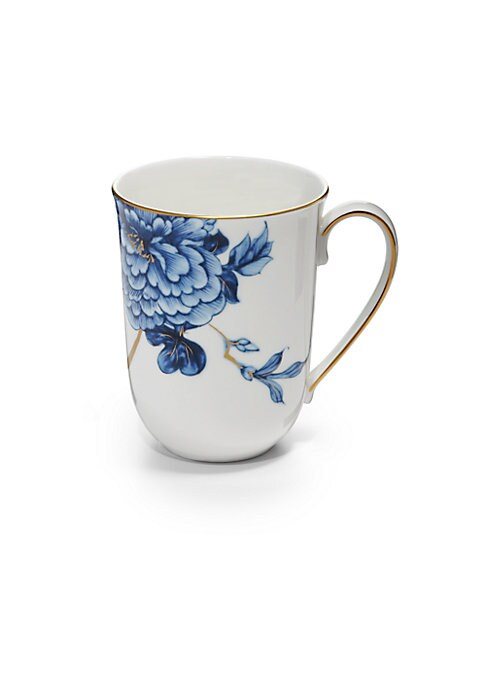 Image of From the Emperor Collection. An elegant bone china design accented with gilded trim and a floral pattern.9 oz. Bone china/24K gold. Hand wash. Imported.