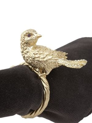 L Objet Bird Napkin Rings Set Of 4