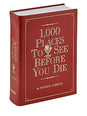 Image of 1,000 places guaranteed to give travelers the shivers. Sacred ruins, grand hotels, wildlife preserves, hilltop villages, snack shacks, castles, festivals, reefs, restaurants, cathedrals, hidden islands, opera houses, museums, and more. Each entry tells ex