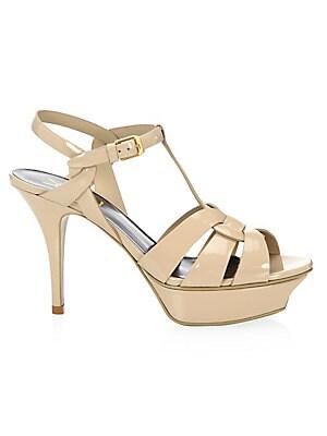 d14385fd6c253 Saint Laurent - Tribute 105 Patent Leather Platform Sandals - saks.com