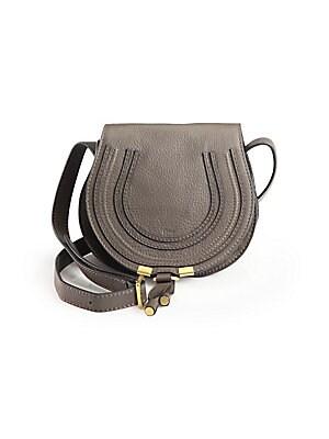 bcf177db418c Chloé - Mini Marcie Grained Leather Saddle Bag - saks.com