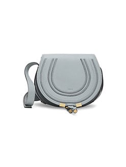 fe6af95b04d2 Chloé. Mini Marcie Grained Leather Saddle Bag
