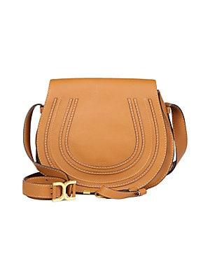 a342995d719a Chloé - Medium Marcie Leather Saddle Bag - saks.com